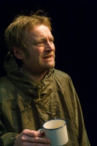 Playwright and actor Richard Dormer as a physicist who has discovered the Higgs boson.