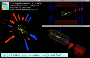 A dimuon event recorded by CMS on December 14.