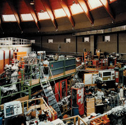 The BESSY I synchrotron-light source was originally operated at the Berlin Electron Storage Ring Company for Synchrotron Radiation. Image courtesy of BESSY.