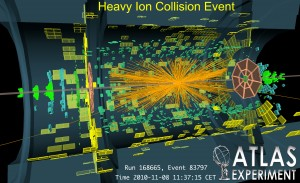 A lead-ion collision as seen by the ATLAS detector.