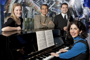 Some of the ATLAS collaboration's classical musicians, featured on the second CD.