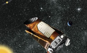 Artist's illustration of Kepler spacecraft. Credit: NASA/ Kepler Mission/ Wendy Stenzel.
