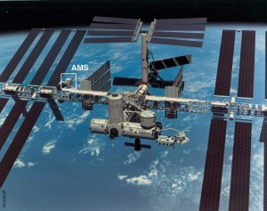 Artist's impression of AMS-02 on the International Space Station <em>Image courtesy of CERN.</em>