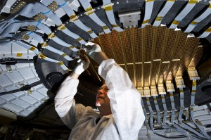 AMS-02 detector <em>Image courtesy of CERN.</em>