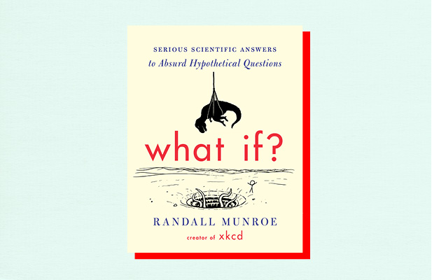 "Illustration of book cover ""What if"" by Randall Munroe"