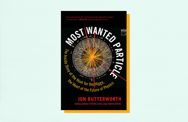 "Illustration of book cover ""Most Wanted Particle"" by Jon Butterworth"