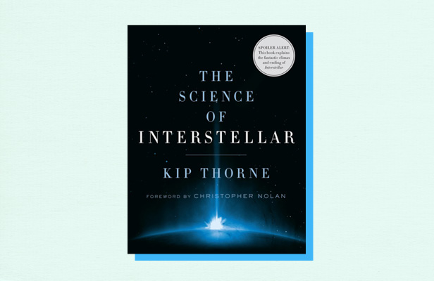 "Illustration of book cover ""The Science of Interstellar"" by Kip Throne"