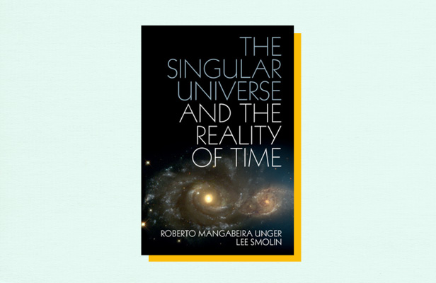 "Illustration of book cover ""The Singular Universe and the Reality of Time"" by Lee Smolin"