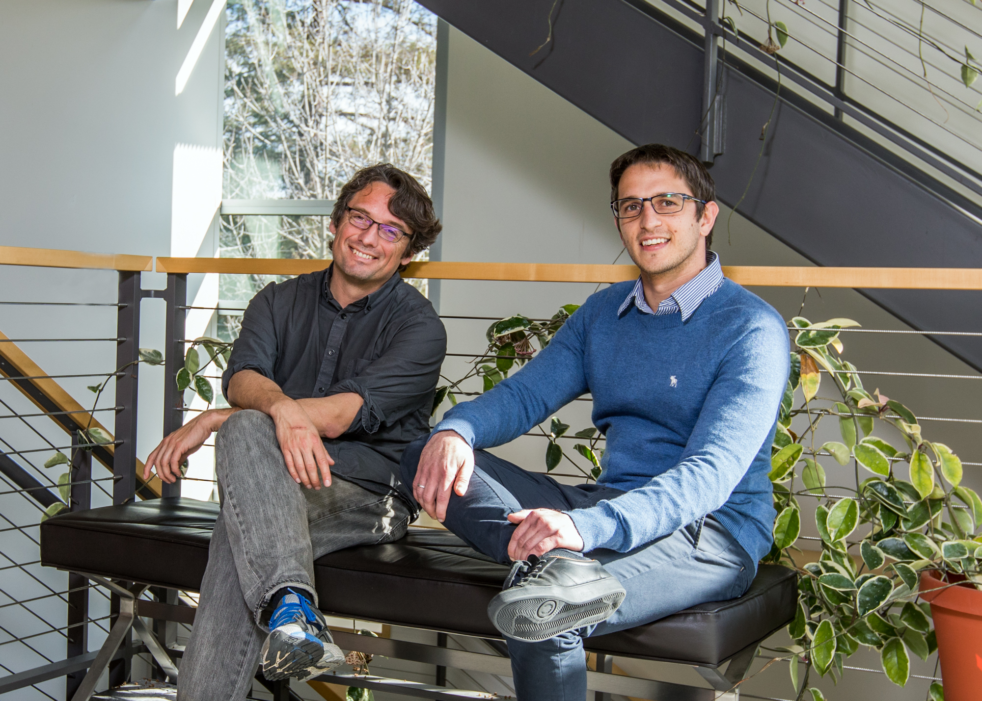 KIPAC researchers Eric Charles and Mattia Di Mauro