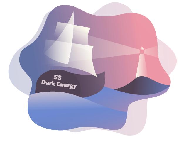 Illustration of Supernovae SS Dark Energy