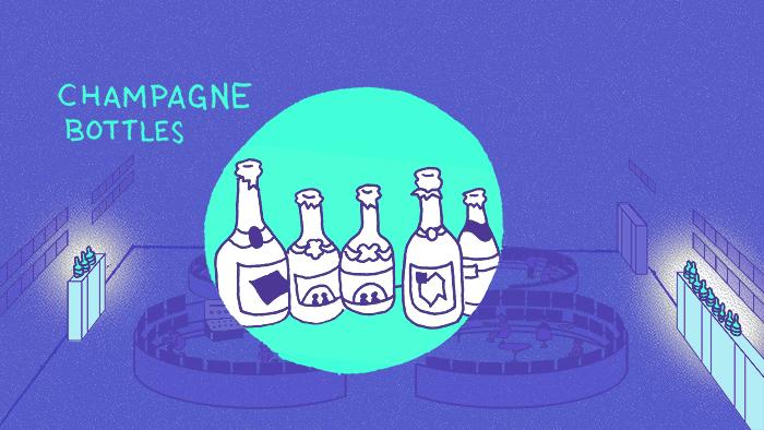 Image: CCC Champagne Bottles