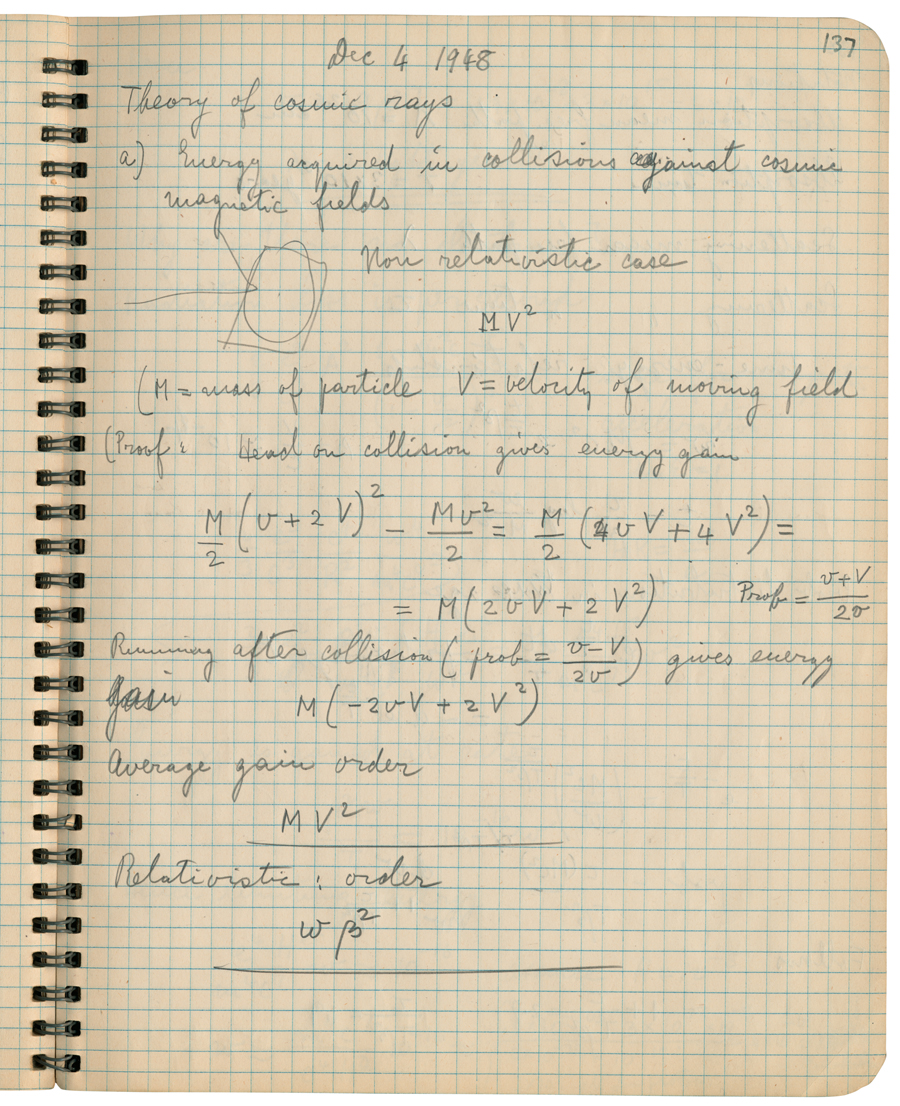 Logbook of Cosmic Rays