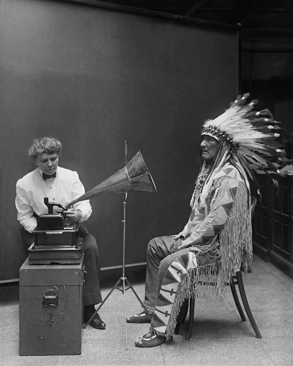 Photo: Recording Mountain Chief