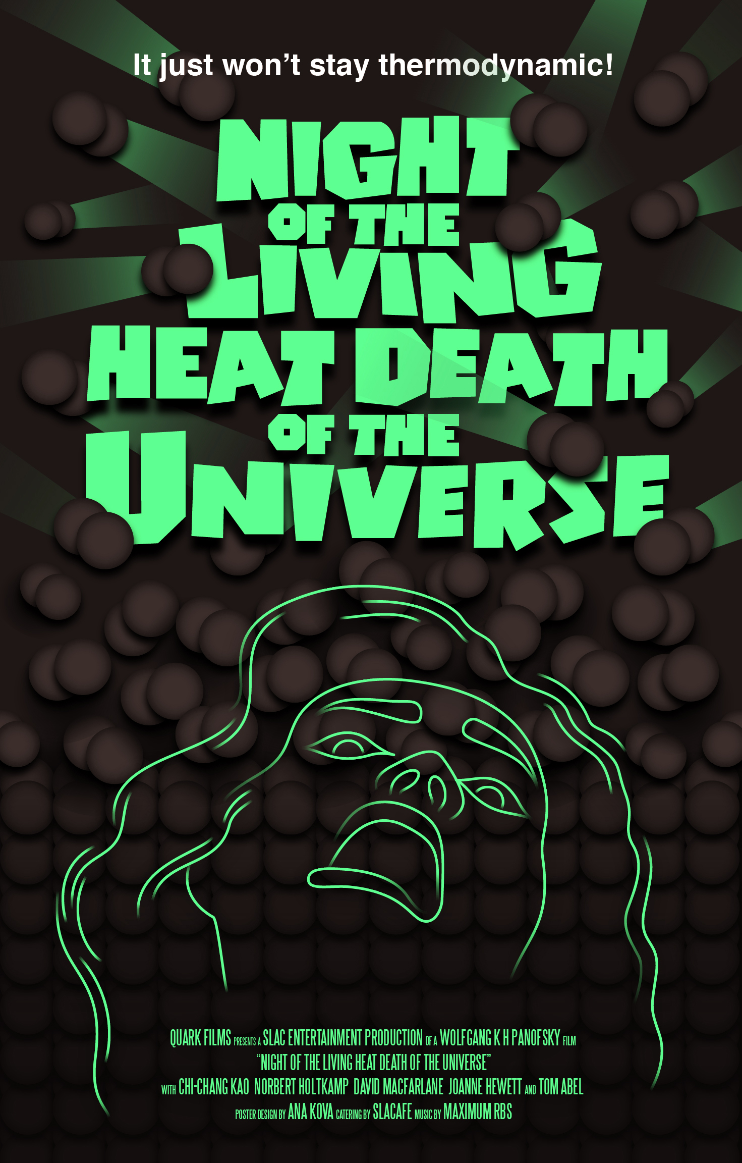 Halloween Poster: Night of the Living Heat Death of the Universe