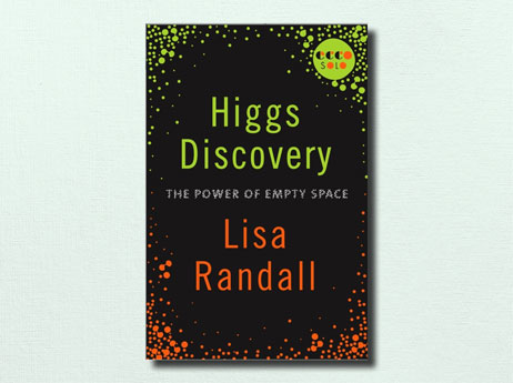 "Illustration of book cover ""Higgs Discovery"" written by Lisa Randall"