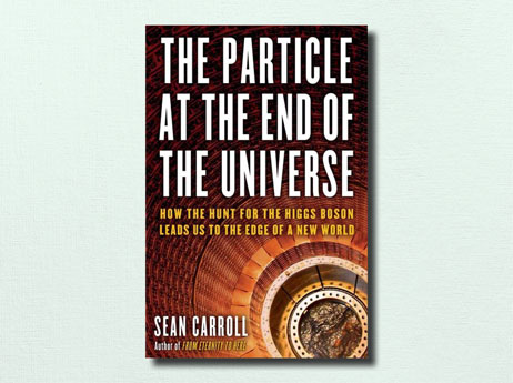 "Illustration of book cover ""The Particle at the End of the Universe"" written by Sean Carroll"