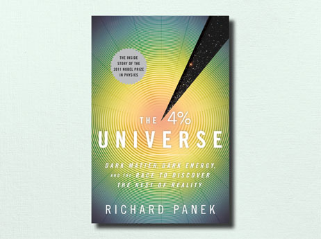 "Illustration of book cover ""The 4% Universe"" written by Richard Panek"