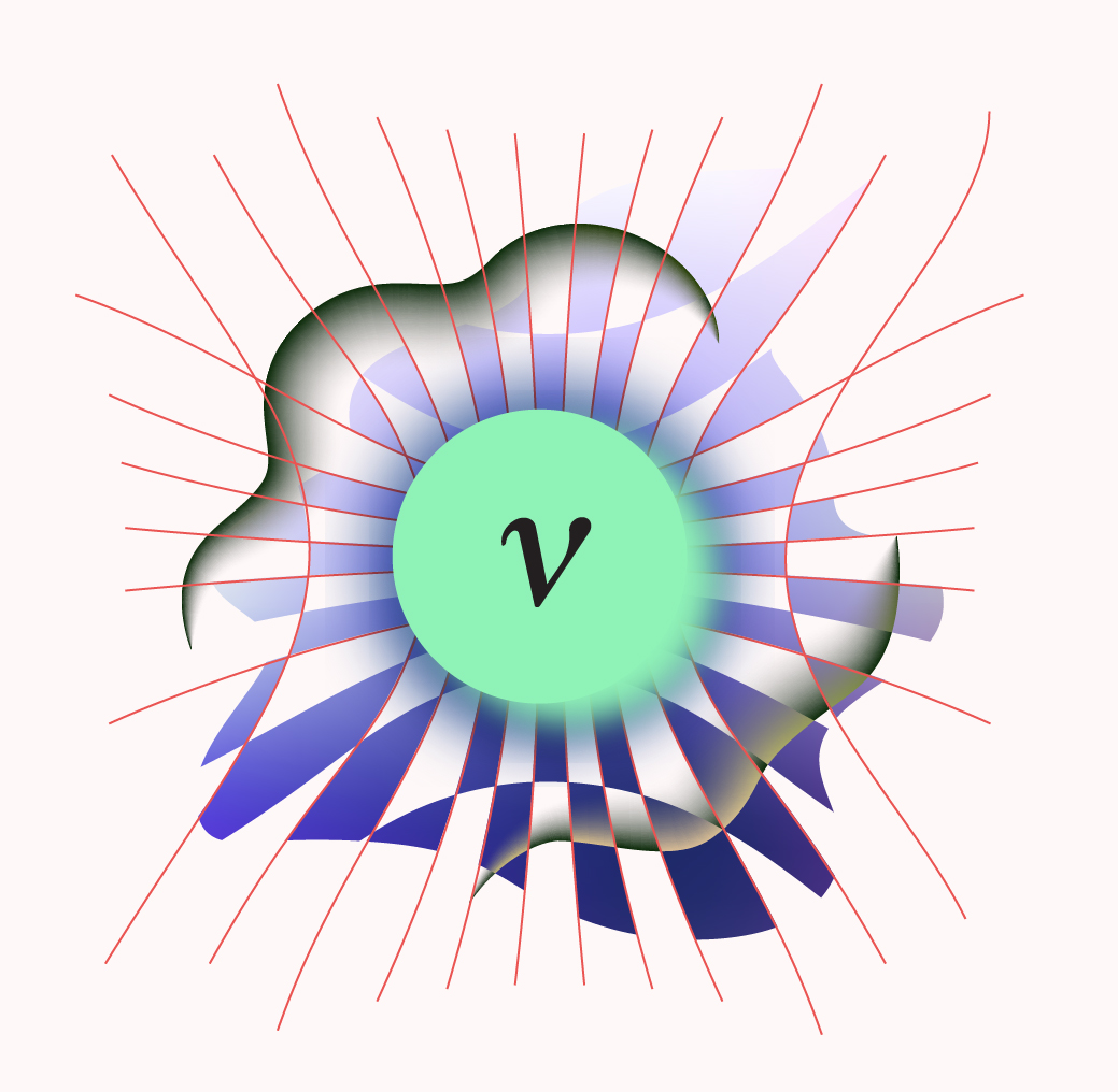 An illustration of a neutrino
