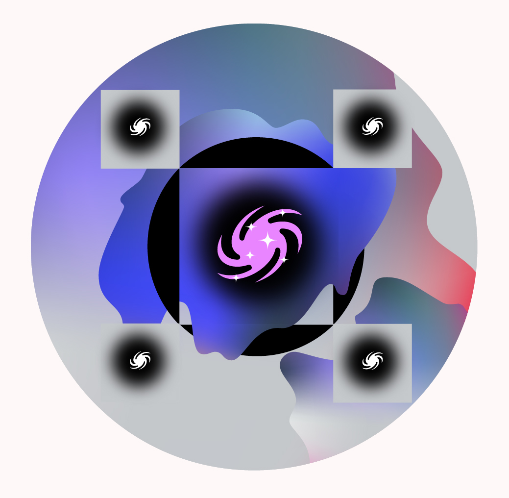 Una ilustración que representa la materia oscura.