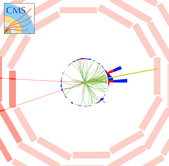 Image of a simulated graviton event from the CMS experiment at the LHC