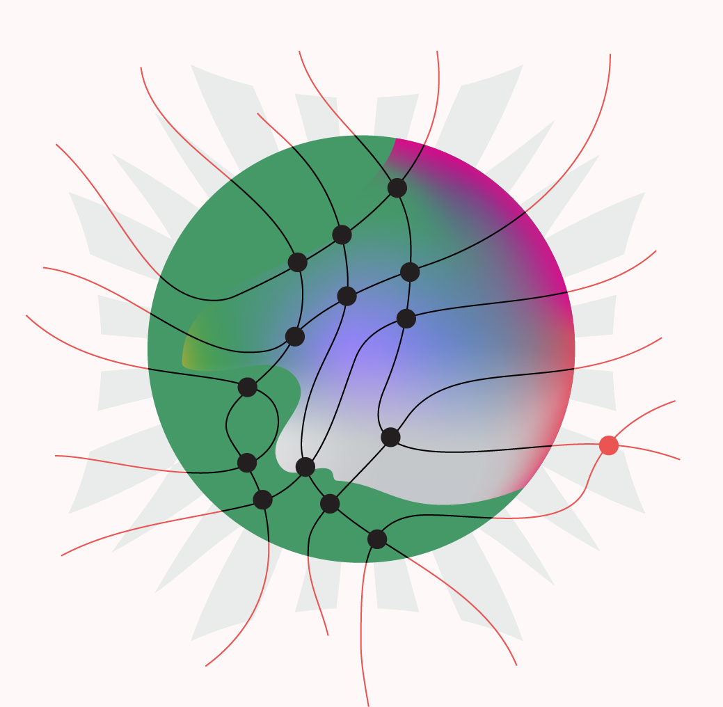 An illustration representing a particle associated with the force of gravity