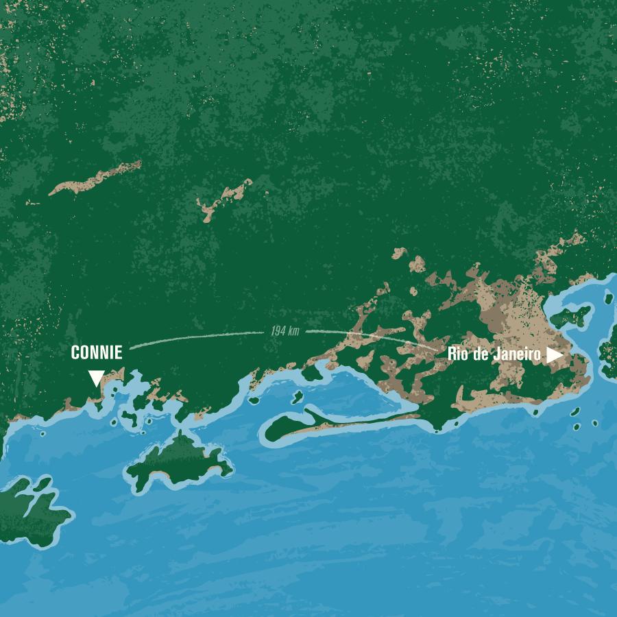 Map indicating CONNIE location relative to Rio de Janeiro