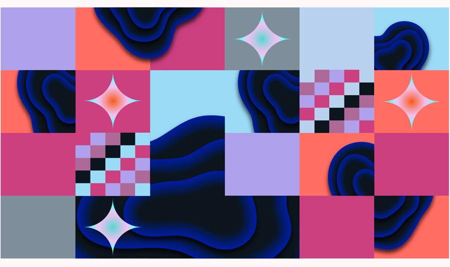 Dark matter map tiles