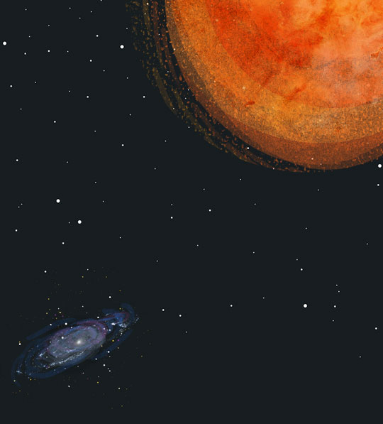 Illustration of Betelgeuse