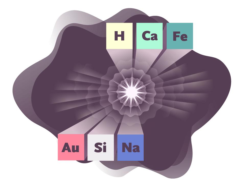 Illustration of Supernovae Elements