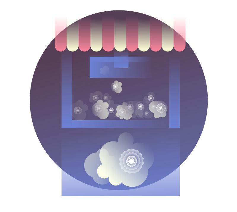 Illustration of Supernovae Popcorn