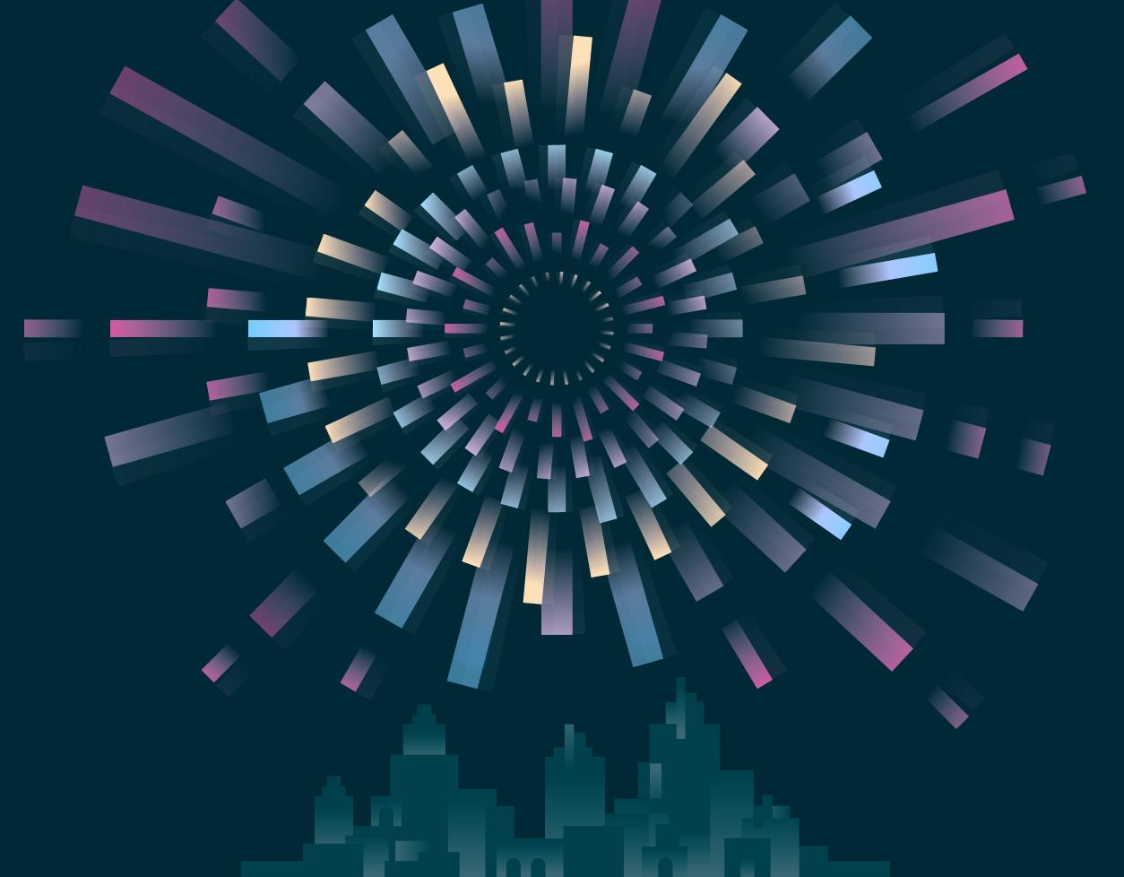 Illustration of Universe Fireworks