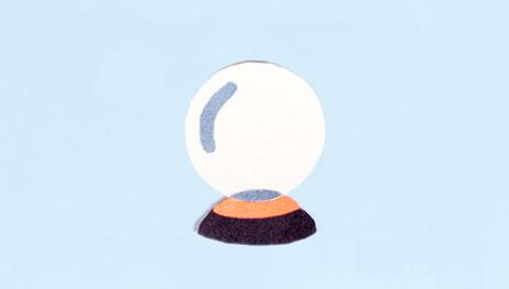 Illustration of crystal ball