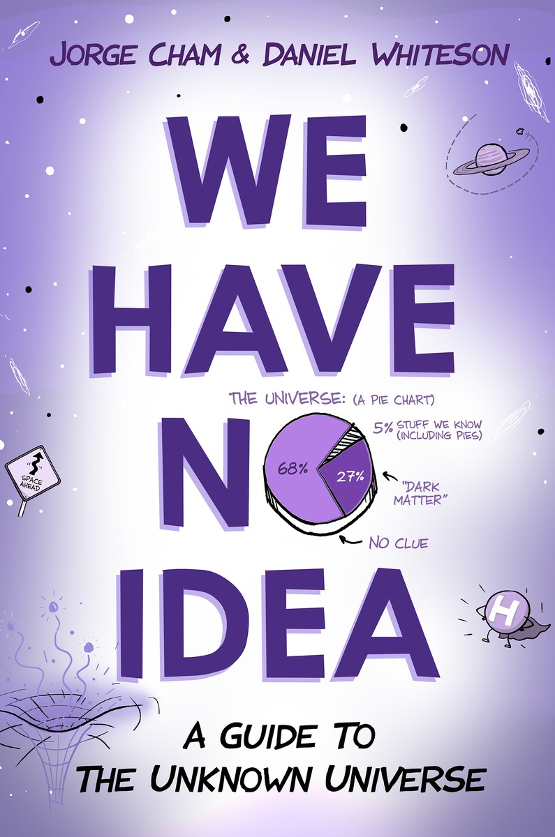 "Purple poster of ""We have no idea"" by Jorge Cham Daniel"