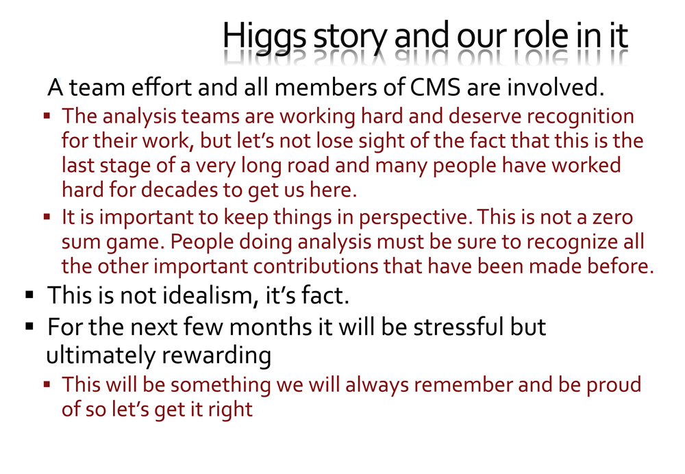 Slide of CMS PowerPoint