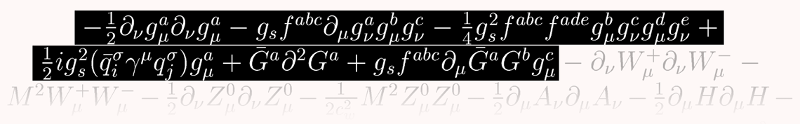 Image: Lagrangian standard model: one