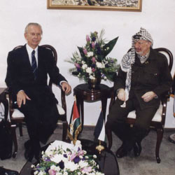 Herwif Schopper meets with Yasser Arafat