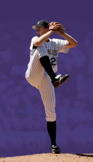 Major league pitcher Jeff Francis