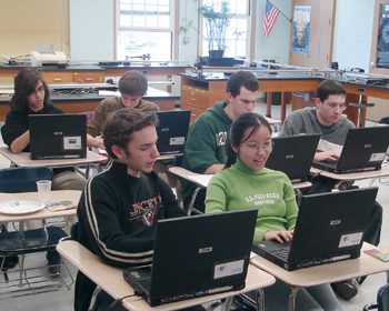 Tania Entwistle's team of students from Ward Melville High School in New York