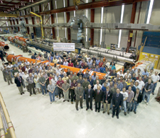 In May 2004, Fermilab celebrated the shipment of the first Fermilab-KEK focusing magnet to CERN.