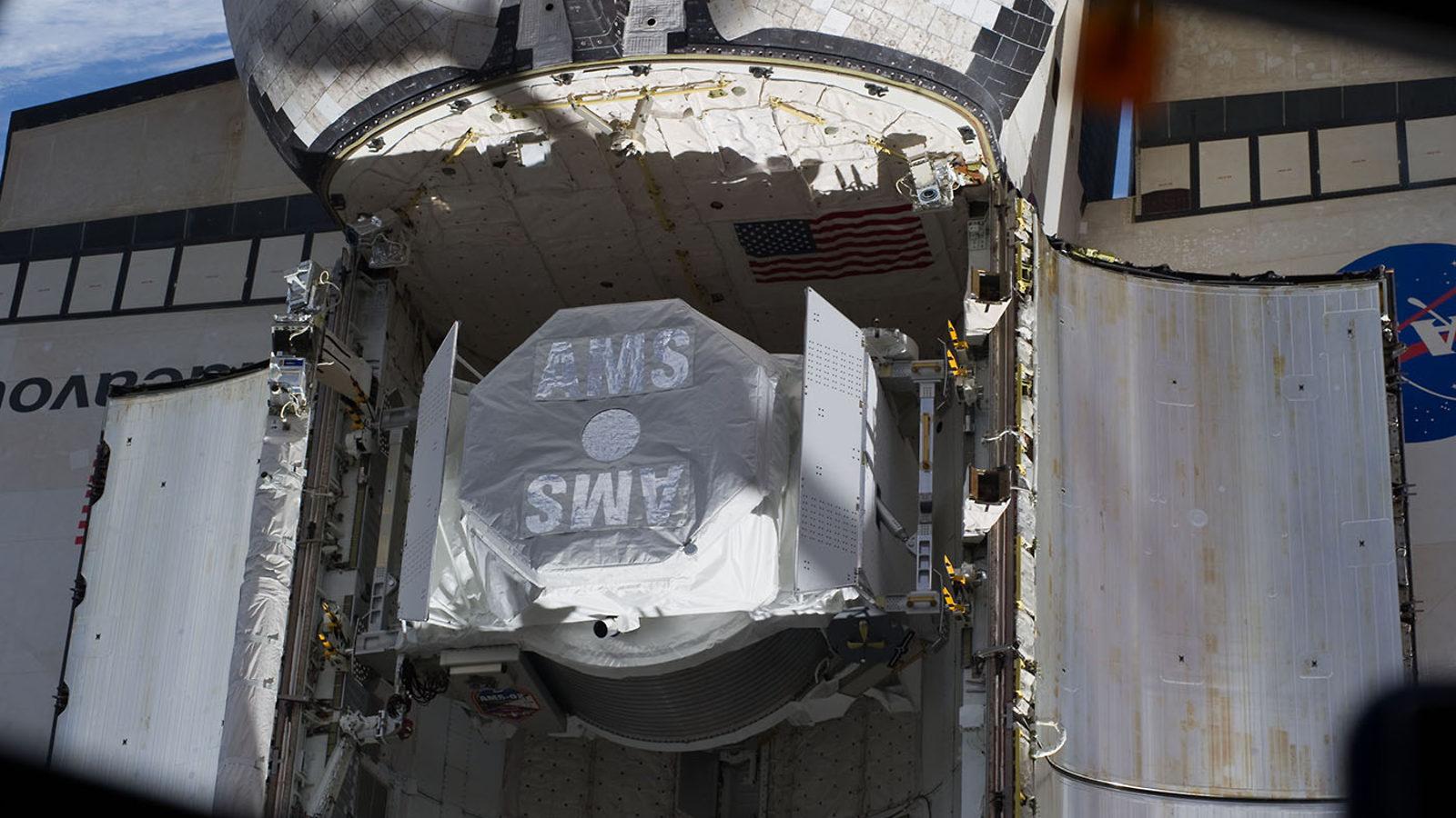Photo: AMS on spaceship