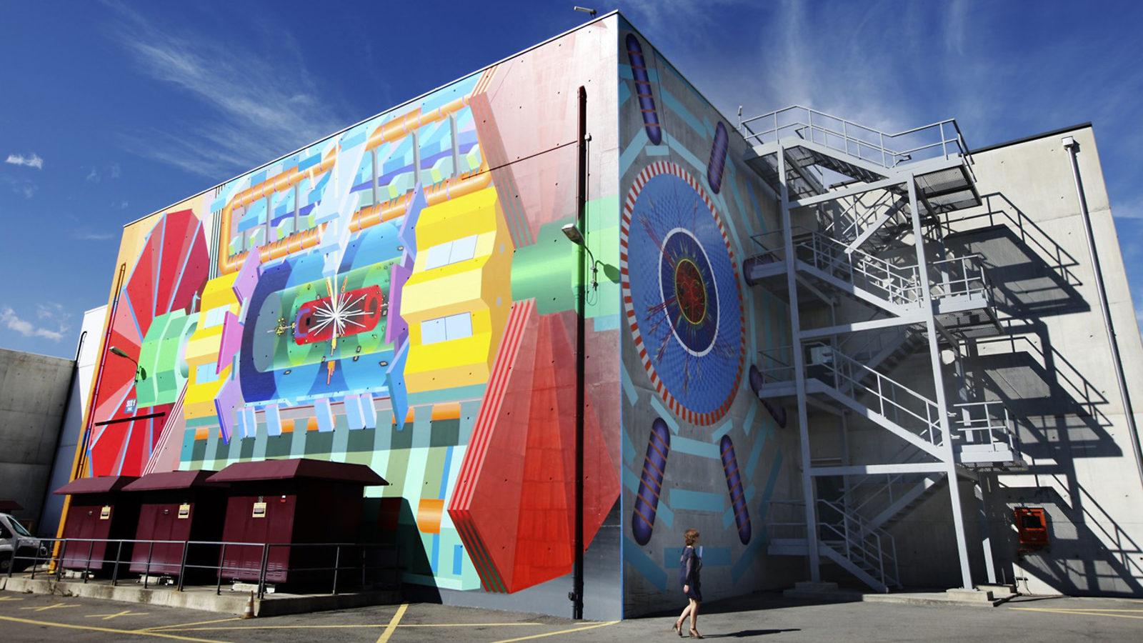 Photo of ATLAS mural