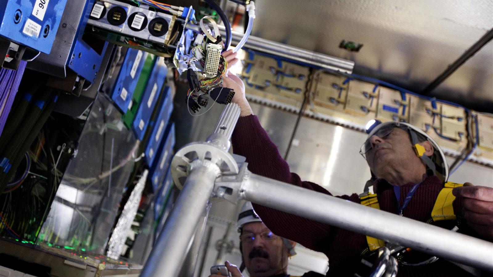 Photo: ATLAS calorimeter work