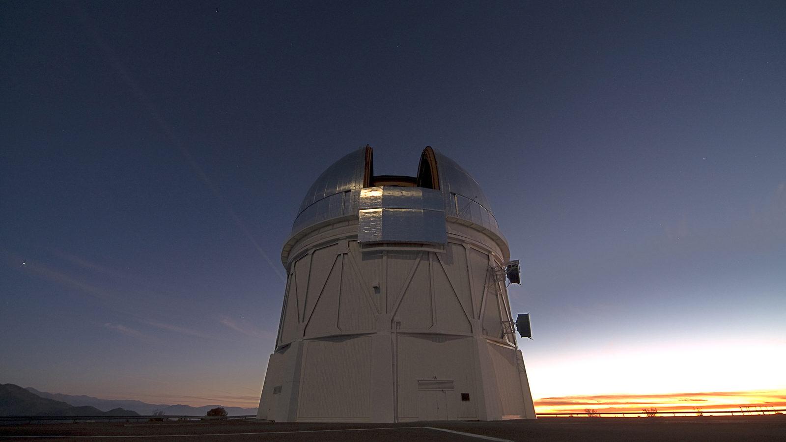 Photo: DECam on telescope