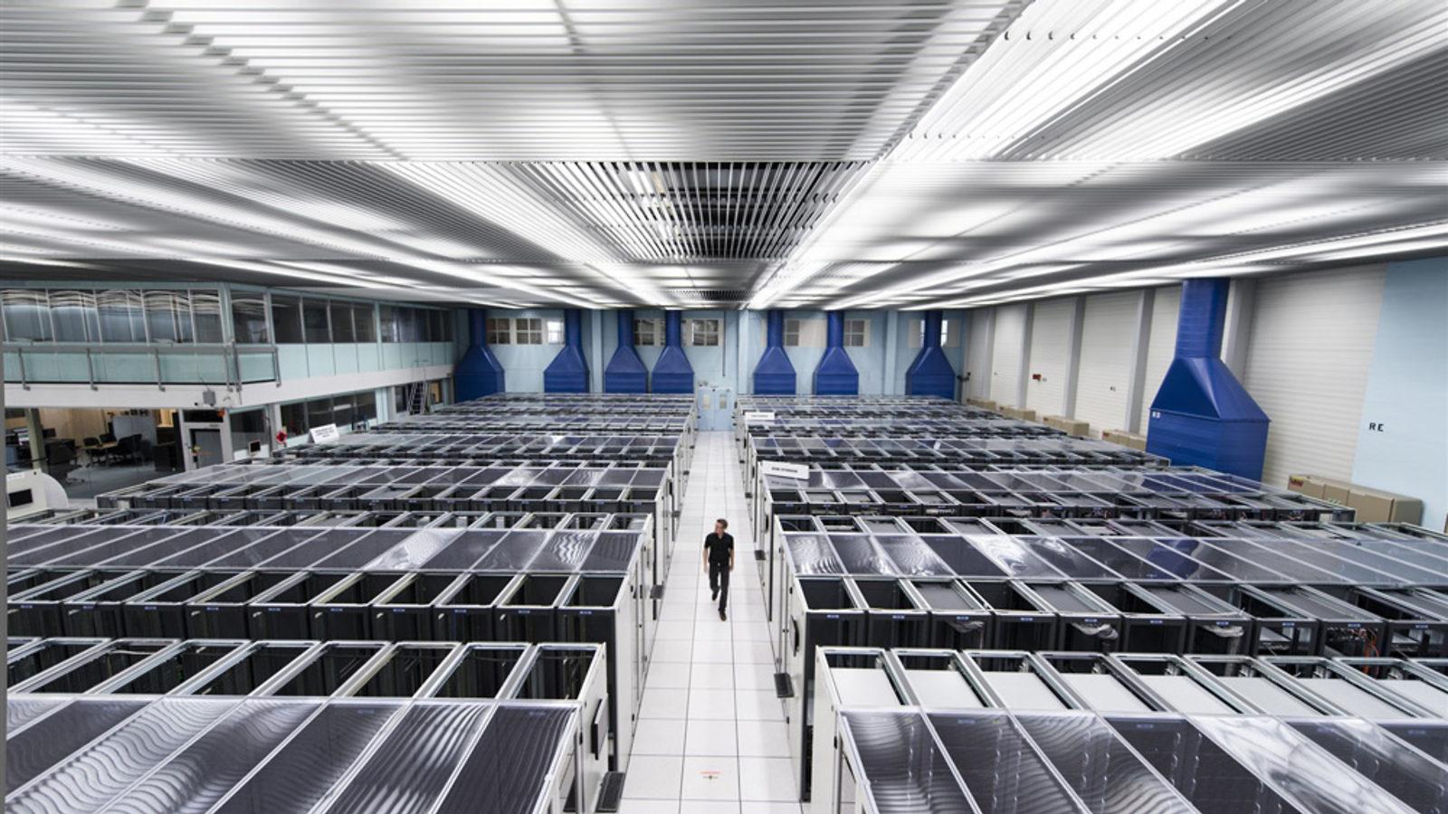 Photo of CERN computer center