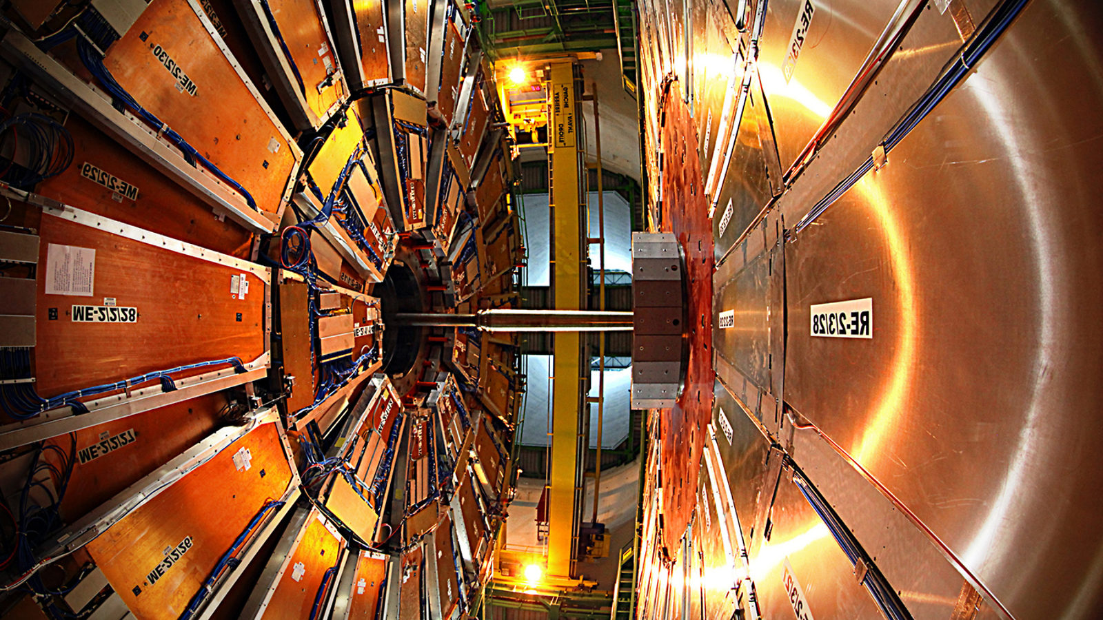 Photo of CMS detector