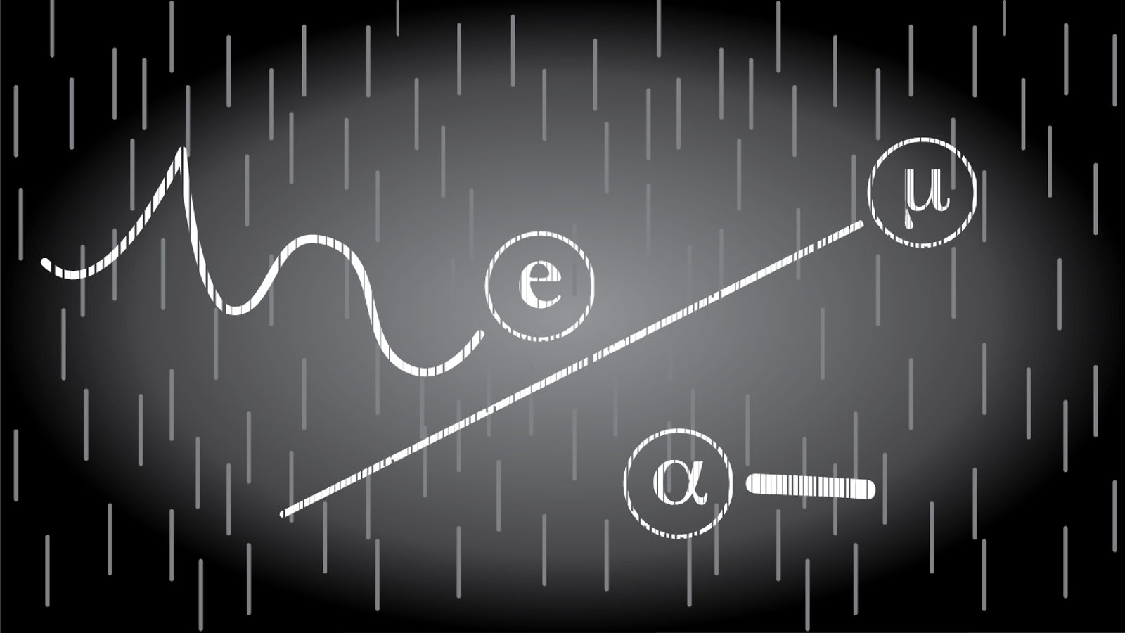 Illustration of Cloud Chamber Particles