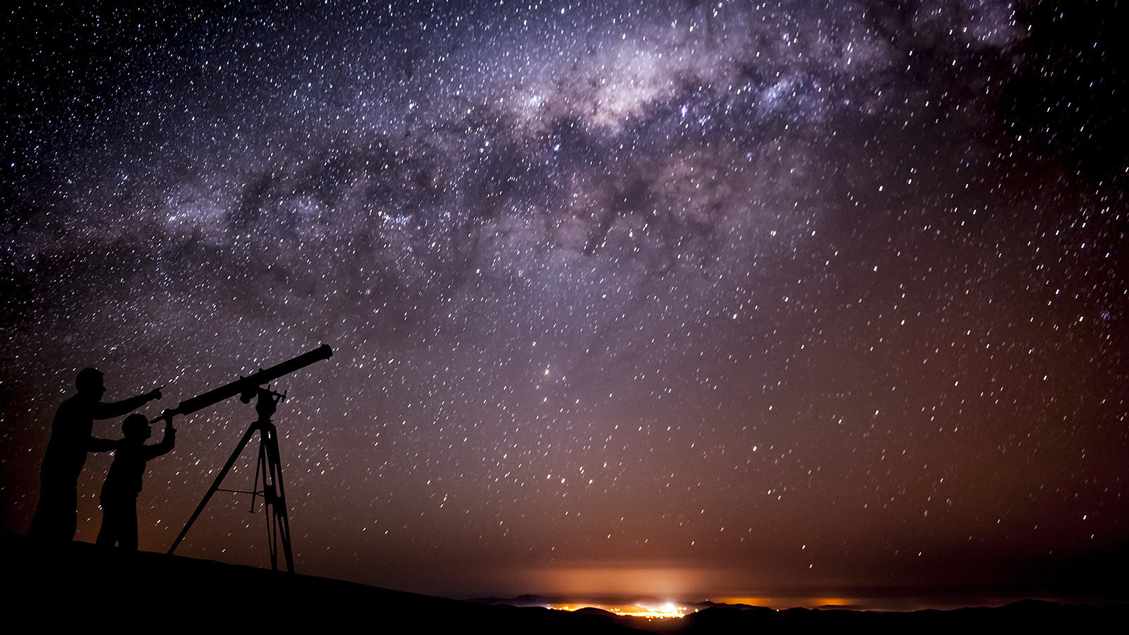 Photo of the Milky Way's hot spot