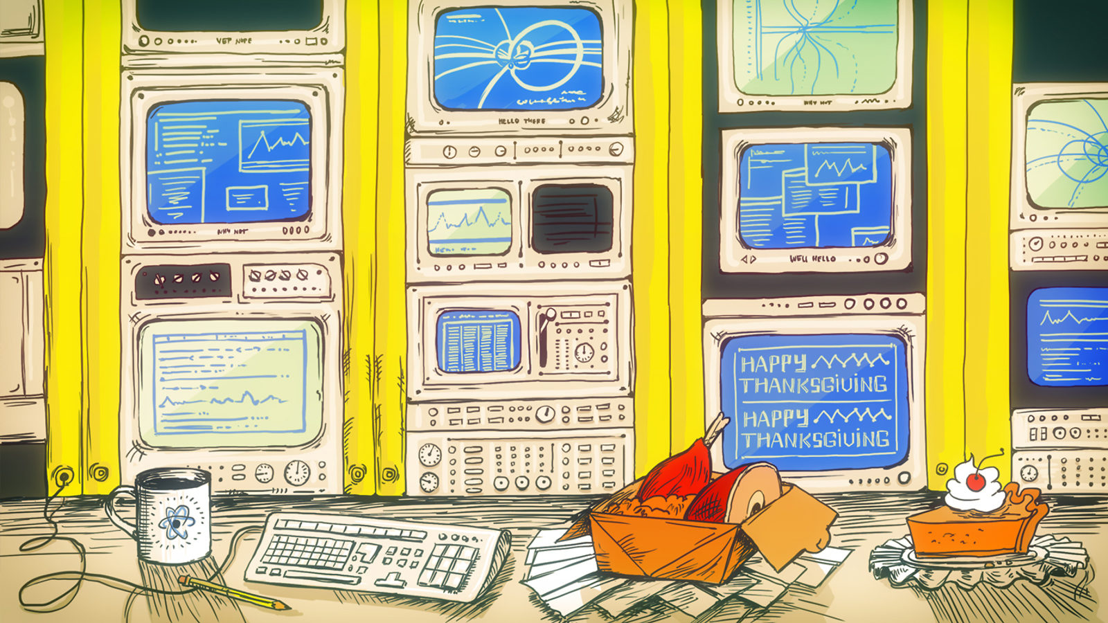 S2B:Thanksgiving in the Main Control Room illustration