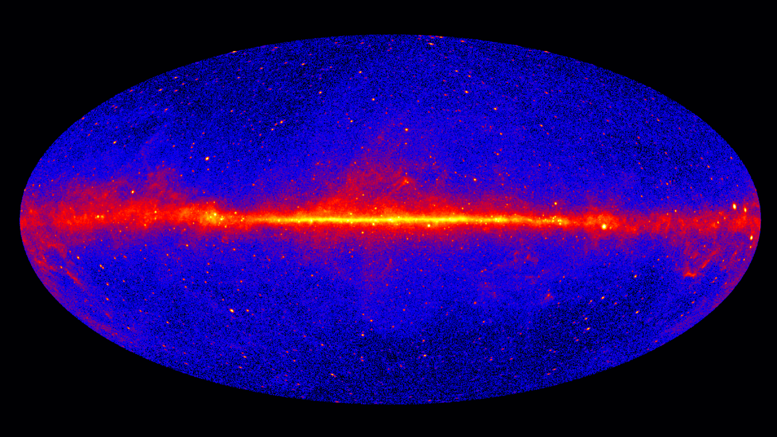 Image of Fermi LAT sky map