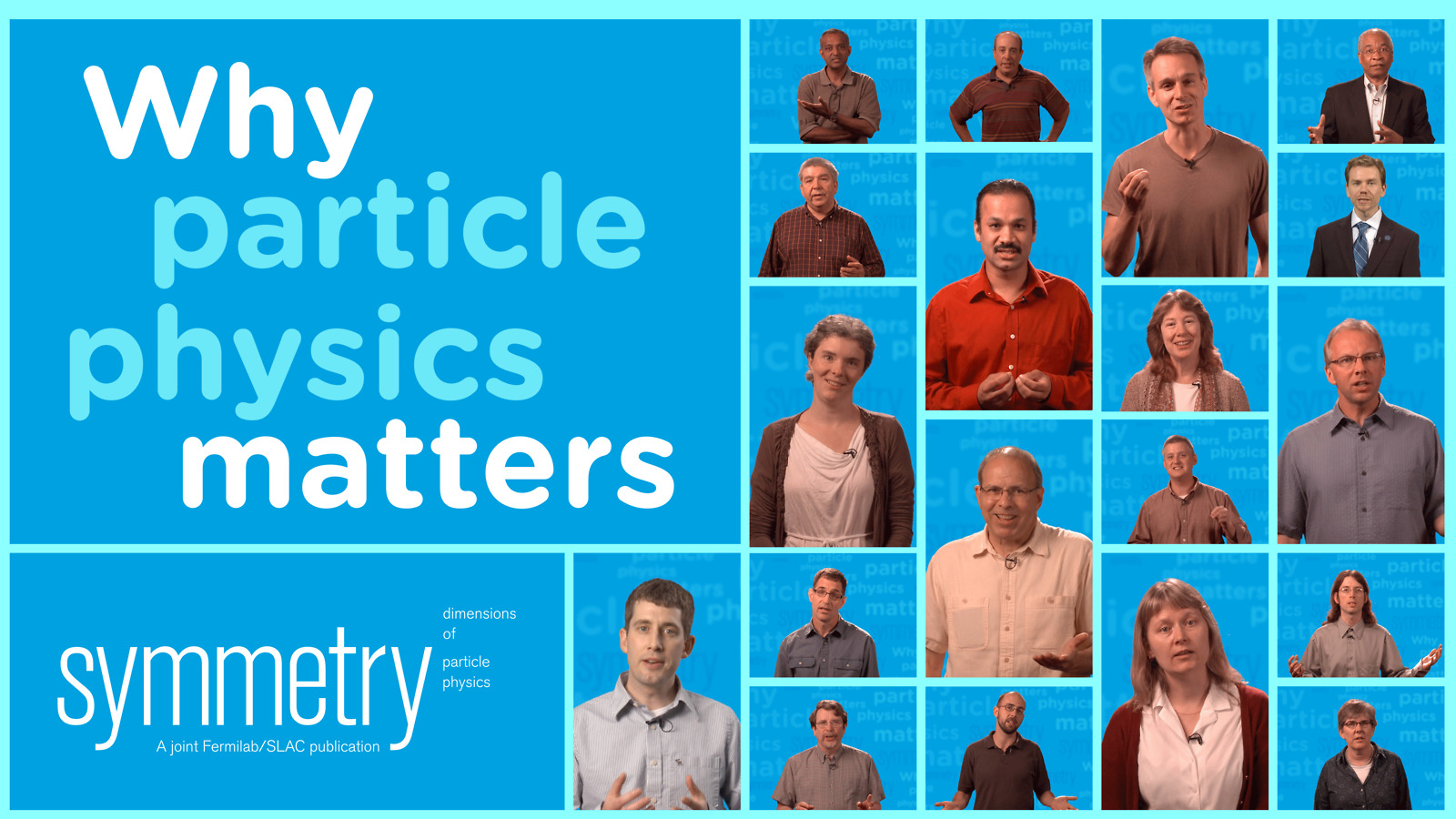 Illustration: Why particle physics matters